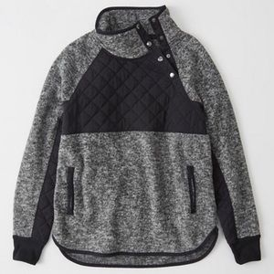NWT Abercrombie Asymmetrical Snap-Up Fleece